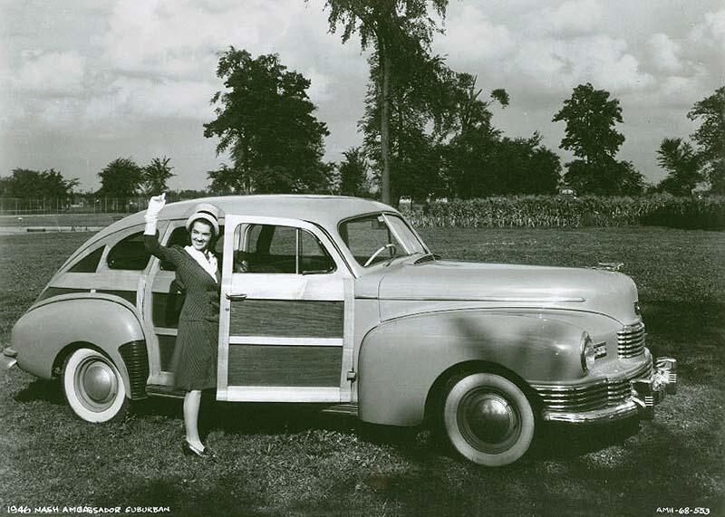 1946 Nash Ambassador Suburban Woody Sedan
